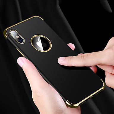voordelige iPhone 6 Plus hoesjes-hoesje Voor Apple iPhone XS / iPhone XR / iPhone XS Max Schokbestendig / Waterbestendig / Beplating Achterkant Effen Zacht TPU
