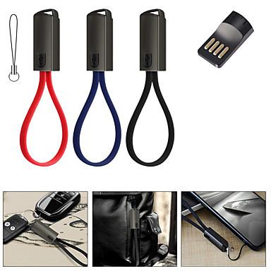 halpa Kaapelit ja adapterit-C-tyypin Kaapeli 0.2m (0.65Ft) Punottu / pikalataus Nylon / TPE / ABS + PC USB-kaapelisovitin Käyttötarkoitus Samsung / Huawei / Xiaomi