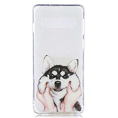 voordelige Galaxy S-serie hoesjes / covers-hoesje Voor Samsung Galaxy S9 / S9 Plus / S8 Plus Transparant / Patroon Achterkant Hond Zacht TPU