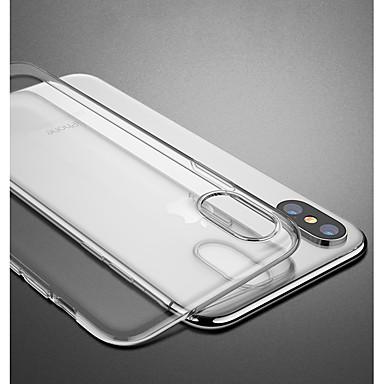 Недорогие Кейсы для iPhone-Кейс для Назначение Apple iPhone XS / iPhone XR / iPhone XS Max Защита от удара / Прозрачный Кейс на заднюю панель Однотонный / Прозрачный Мягкий ТПУ