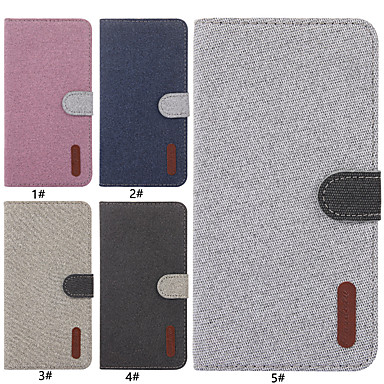 voordelige Huawei Mate hoesjes / covers-hoesje Voor Huawei Huawei Honor 9i / Mate 10 lite / Huawei Mate 20 lite Kaarthouder / met standaard / Flip Volledig hoesje Effen Hard tekstiili