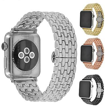 Недорогие Ремешки для Apple Watch-Ремешок для часов для Apple Watch Series 4/3/2/1 Apple Бабочка Пряжка Металл / Нержавеющая сталь Повязка на запястье