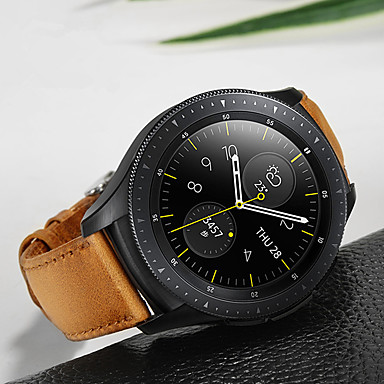 voordelige Horlogebandjes voor Samsung-Horlogeband voor Samsung Galaxy Watch 42 Samsung Galaxy Sportband Roestvrij staal / Leer Polsband