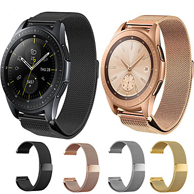 cheap Smartwatch Accessories-Watch Band for Samsung Galaxy Watch 46 / Samsung Galaxy Watch 42 Samsung Galaxy Milanese Loop Stainless Steel Wrist Strap