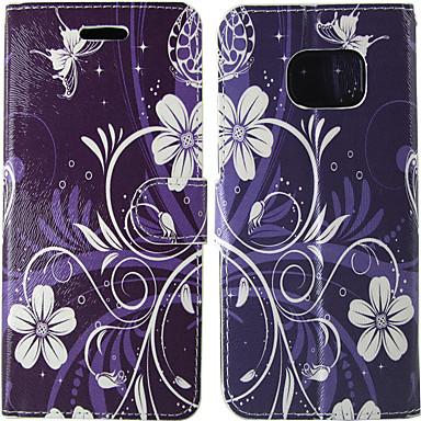 Недорогие Чехлы и кейсы для Galaxy S4 Mini-Кейс для Назначение SSamsung Galaxy S8 / S7 / S5 Mini Бумажник для карт / Флип Чехол Однотонный / Цветы Твердый Кожа PU