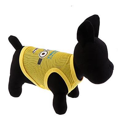 Pisici Câine Tricou Îmbrăcăminte Câini Verde Roz Terilenă Costume Pentru Primăvara & toamnă