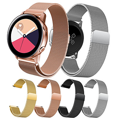 voordelige Horlogebandjes voor Samsung-Horlogeband voor Gear S2 / Samsung Galaxy Watch 42 / Samsung Galaxy Active Samsung Galaxy Milanese lus Roestvrij staal Polsband