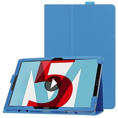 ieftine Carcase / Huse de Huawei-pentru huawei mediapad m5 8 / huawei mediapad m5 lite 10 origami / ultra-subțire / cu suport pentru corpuri de corp pline de culoare solidă hard leather pentru huawei mediapad m5 10 (pro) / huawei