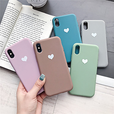 voordelige iPhone 7 hoesjes-hoesje voor apple iphone xr / iphone xs max patroon achterkant hart soft tpu voor iphone x xs 8 8plus 7 7plus 6 6plus 6s 6s plus