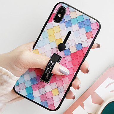 voordelige iPhone X hoesjes-hoesje Voor Apple iPhone XS / iPhone XR / iPhone XS Max Schokbestendig / Stofbestendig / Waterbestendig Achterkant Geometrisch patroon Hard Gehard glas