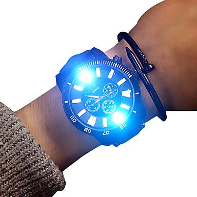 Недорогие Часы на кожаном ремешке-Муж. Спортивные часы Кварцевый Кожа Черный 30 m Светящийся Повседневные часы обожаемый Аналоговый Блестящие На каждый день - Белый Черный Два года Срок службы батареи