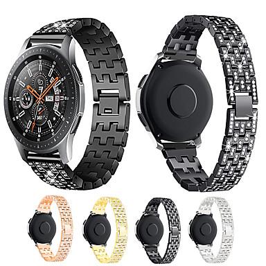 voordelige Smartwatch-accessoires-Horlogeband voor Samsung Galaxy Watch 46 / Samsung Galaxy Watch 42 Samsung Galaxy Sieradenontwerp Metaal Polsband