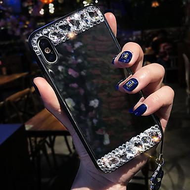 voordelige iPhone 6 hoesjes-hoesje Voor Apple iPhone XS / iPhone XR / iPhone XS Max Schokbestendig / Strass / Spiegel Achterkant Geometrisch patroon Zacht Siliconen