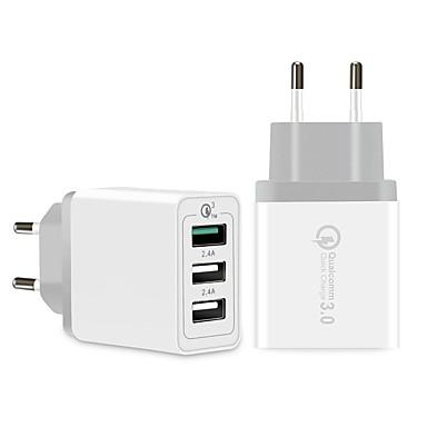 billige Hurtigladere-SpedCrd Rask lader USB-lader Us Plugg / Eu Plugg / UK Plug Flere utganger / QC 3.0 3 USB-porter 3 A 100~240 V til Universell