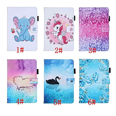 cheap iPad  Cases / Covers-Case For Apple iPad Air/iPad (2018) Auto Sleep / Wake Up / Magnetic / Flip Full Body Cases Animal / Cartoon / Butterfly Hard PU Leather for iPad Pro 9.7'' / iPad (2017) / iPad Air 2/iPad mini 1/2/3/4