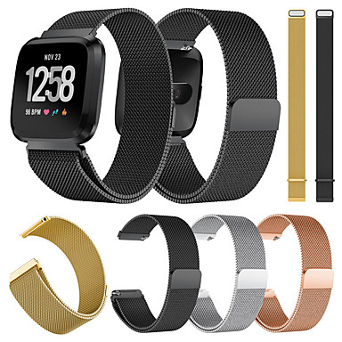 cheap Smartwatch Accessories-Watch Band for Fitbit Versa / Fitbit Versa Lite Fitbit Milanese Loop Metal / Stainless Steel Wrist Strap