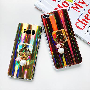 voordelige Galaxy J-serie hoesjes / covers-hoesje Voor Samsung Galaxy J7 Prime / J7 (2017) / J7 (2016) Ringhouder / Glitterglans Achterkant Glitterglans / Kleurgradatie Zacht TPU