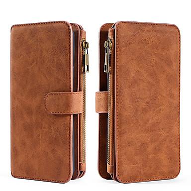 Недорогие Кейсы для iPhone-Кейс для Назначение Apple iPhone XS / iPhone X Кошелек / Бумажник для карт / Флип Чехол Однотонный Кожа PU