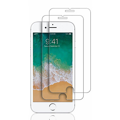 voordelige iPhone screenprotectors-screen protector voor apple iphone 6s / iphone 7 / iphone 7 plus gehard glas 2 stks front screen protector 9 h hardheid / 2.5d gebogen rand