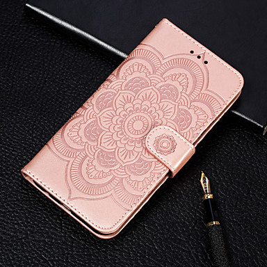 cheap Xiaomi Case-Case For Xiaomi Xiaomi A2 lite Embossed / Flip / with Stand Full Body Cases Flower Hard PU Leather for Redmi Note 7 / Redmi Go / Xiaomi A2 /Redmi 7