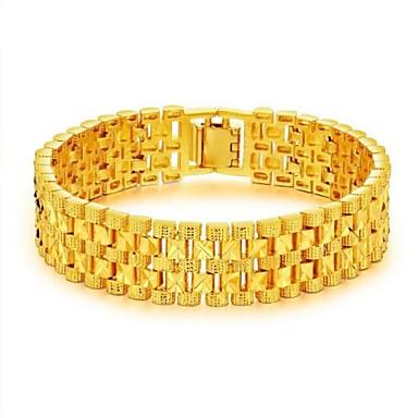 رجالي أساور السلسلة والوصلة ستايل خلاق موضة دبي 18K الذهب مجوهرات سوار ذهبي من أجل مناسب للحفلات مناسب للبس اليومي