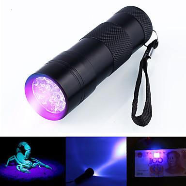 ieftine lanterne-Lanterne Cu Lumină Închisă LED 5mm Lampă 12 emițători 1 Mod Zbor Rezistent la apă Ultraviolet Light Camping / Cățărare / Speologie Utilizare Zilnică Vânătoare Negru / Aliaj de Aluminiu