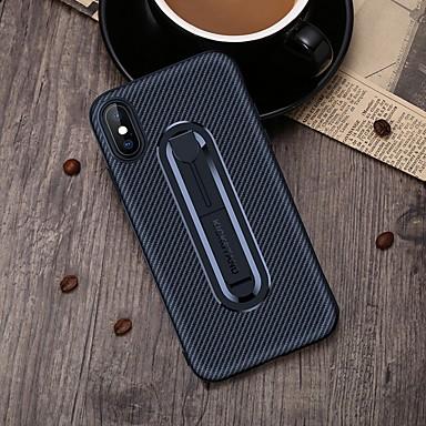 voordelige iPhone 5 hoesjes-hoesje voor apple iphone 6 / iphone xs max met standaard achterkant solide gekleurde zachte koolstofvezel voor iphone 5 / iphone se / 5s / iphone 6