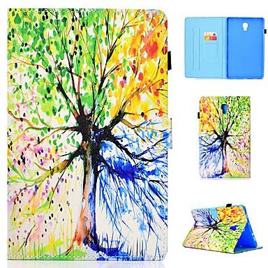 Недорогие Чехлы и кейсы для Galaxy Tab 4 10.1-Кейс для Назначение SSamsung Galaxy Tab 4 10.1 / Tab S4 10.5 (2018) / Tab A2 10.5(2018) T595 T590 Бумажник для карт / Защита от удара / со стендом Чехол дерево Твердый Кожа PU