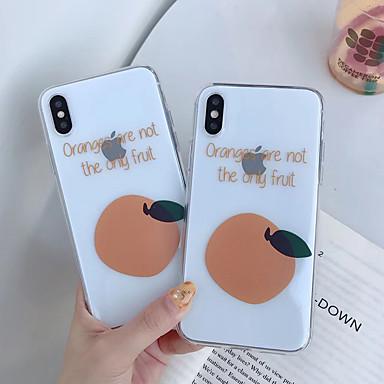 voordelige iPhone X hoesjes-hoesje Voor Apple iPhone XS / iPhone XR / iPhone XS Max Schokbestendig / Mat / Patroon Achterkant Voedsel TPU