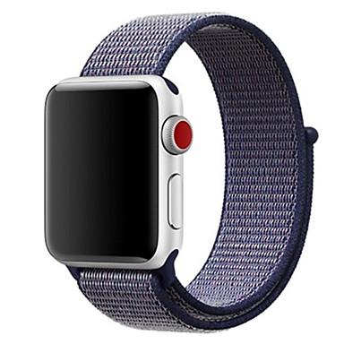 voordelige Smartwatch-accessoires-band voor apple watch series4 / 3/2/1 38 / 40mm 42 / 44mm nylon zachte ademende vervangende riem sportlus voor iwatch-serie