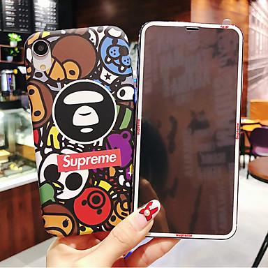 voordelige iPhone X hoesjes-geval voor apple iphone xr / iphone xs max patroon / glow in the dark achterkant cartoon harde pc voor iphone x xs 8 plus 8 7 plus 7 6 6s 6 plus 6s plus