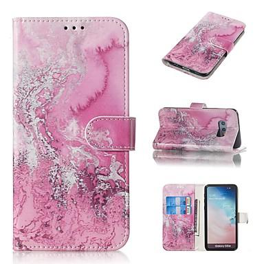 Недорогие Чехлы и кейсы для Galaxy S6-Кейс для Назначение SSamsung Galaxy S9 / S9 Plus / S8 Plus Кошелек / Бумажник для карт / со стендом Чехол Мрамор Твердый Кожа PU