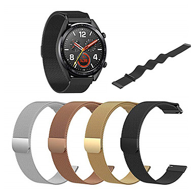 Недорогие Ремешки для часов Huawei-браслет из нержавеющей стали миланский петля ремешок для часов Huawei GT / часы 2 Pro Band