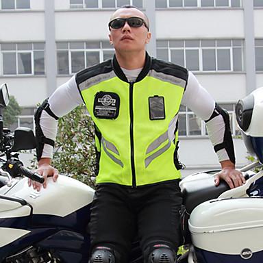 Недорогие Средства индивидуальной защиты-мотоцикл езда светоотражающий жилет команды униформа флуоресцентный защитный жилет