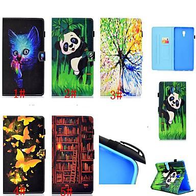 voordelige Samsung Tab-serie hoesjes / covers-hoesje Voor Samsung Galaxy Tab 4 10.1 / Tab S4 10.5 (2018) / Tab A2 10.5(2018) T595 T590 Kaarthouder / Schokbestendig / met standaard Volledig hoesje Kat / Vlinder / Panda Hard PU-nahka