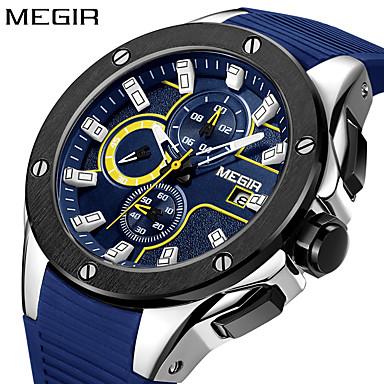 זול שעוני גברים-מגיר גברים שעונים צבא צבא שעון תת חיוג פונקציה סיליקון עמיד למים קוורץ wristwatch