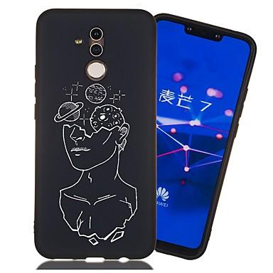 voordelige Huawei Mate hoesjes / covers-hoesje voor huawei honor 9 lite / honor 8a patroon / mat / schokbestendig achterkant tegel zacht tpu voor mate 10 lite / mate 20 lite / mate 20 pro / eer 10 / eer 10 lite / eer 6a