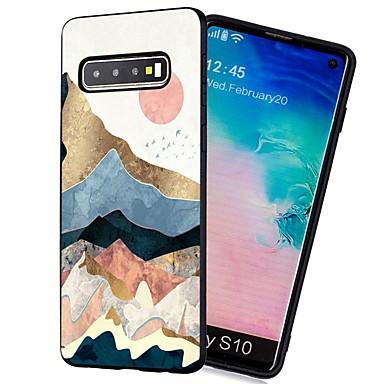 voordelige Galaxy S-serie hoesjes / covers-hoesje Voor Samsung Galaxy S9 / S9 Plus / S8 Plus Schokbestendig / Mat / Patroon Achterkant Landschap Zacht TPU