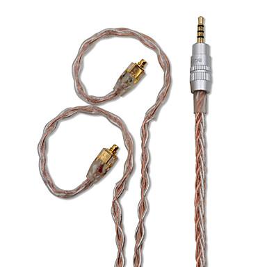 billige Kabler og adaptere-bqeyz 8 hovedtelefon opgraderingskabel mmcx 2.5mm afbalanceret stik hovedtelefonkabler udskiftning