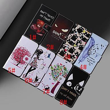 voordelige Huawei Mate hoesjes / covers-hoesje Voor Huawei Huawei Nova 3i / Honor 10 Lite / Huawei Honor 8X Portemonnee / Kaarthouder / Schokbestendig Volledig hoesje dier / Boom Hard PU-nahka