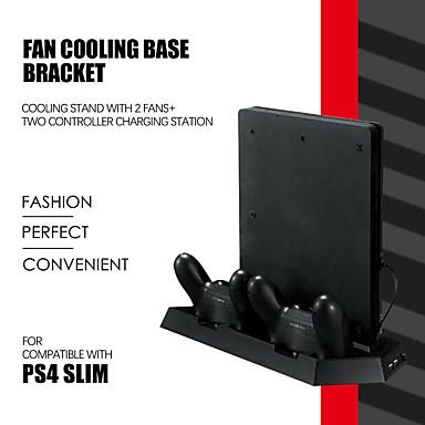 olcso Videojáték tartozékok-ps4 vékony kettős játékvezérlő függőleges hűtőberendezés töltőállomás 2 nagy sebességű ventilátor kettős vezérlővel