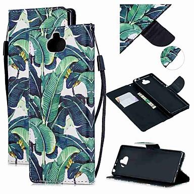 voordelige Hoesjes / covers voor Sony-hoesje Voor Sony Sony Xperia 10 / Sony Xperia XZ3 / Xperia XZ2 Compact Portemonnee / Kaarthouder / Schokbestendig Volledig hoesje Boom PU-nahka