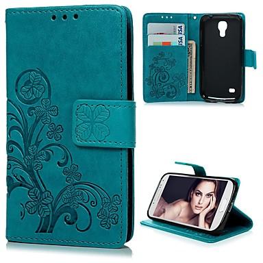 Недорогие Чехлы и кейсы для Galaxy S4 Mini-Кейс для Назначение SSamsung Galaxy S4 Mini Кошелек / Бумажник для карт / со стендом Чехол Цветы Твердый Кожа PU