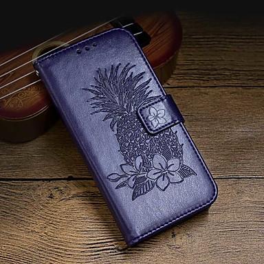 Недорогие Чехлы и кейсы для Galaxy S6 Edge-Кейс для Назначение SSamsung Galaxy S9 / S9 Plus / S8 Plus Кошелек / Бумажник для карт / Защита от удара Чехол Однотонный Твердый Кожа PU