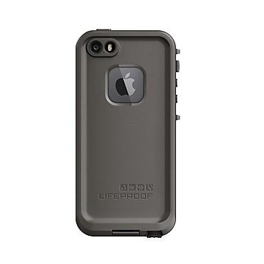Недорогие Кейсы для iPhone-Кейс для Назначение Apple iPhone SE / 5s / iPhone 5 Защита от удара / Защита от пыли / Защита от влаги Чехол Однотонный Мягкий ТПУ / силикагель
