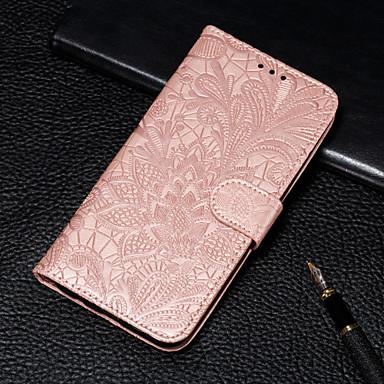 billige Etuier/covers til Huawei-Etui Til Huawei Huawei P Smart (2019) / Huawei P Smart Plus (2019) Pung / Kortholder / Med stativ Fuldt etui Blomst Hårdt PU Læder for Huawei P30 / Huawei P30 Pro / Huawei P30 Lite