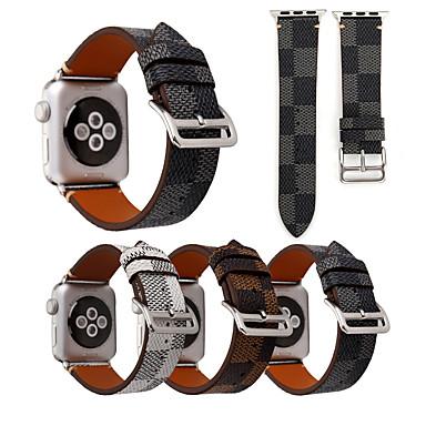 Недорогие Ремешки для Apple Watch-Ремешок для часов для Apple Watch Series 4/3/2/1 Apple Классическая застежка Нейлон / Натуральная кожа Повязка на запястье