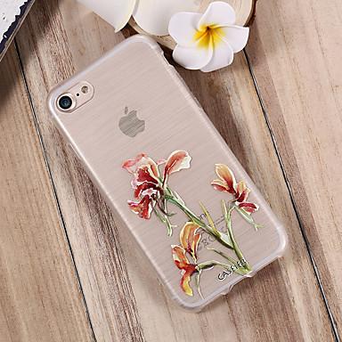 Недорогие Кейсы для iPhone-чехол для apple iphone x / iphone 7 plus водонепроницаемый / пылезащитный / полупрозрачный задняя крышка цветок мягкий тпу / свежий модный чехол для телефона чехол для iphone 5 / 5s / 6 / 6s / iphone