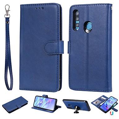 voordelige Huawei Mate hoesjes / covers-hoesje Voor Huawei Honor 10 Lite / Eer 10i / Huawei Honor 9 Lite Portemonnee / Kaarthouder / met standaard Volledig hoesje Effen Hard PU-nahka