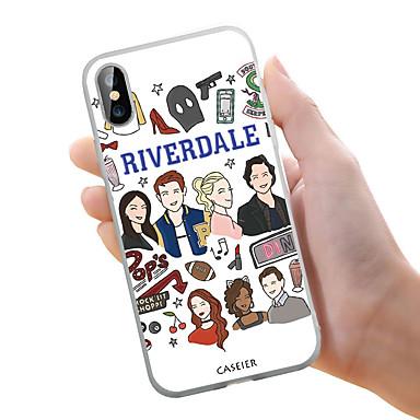 voordelige iPhone 5 hoesjes-hoesje voor Apple iPhone 5 / 5S / SE Stofdicht / Ultradun / Patroon Achterkant Cartoon Zachte TPU / Waterdicht / Persoonlijkheid Creativiteit / Eenvoudige en stijlvolle River Valley Town Series